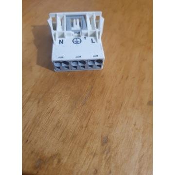 Wtyk 3-torowy SnapIn biały WINSTA 770-733