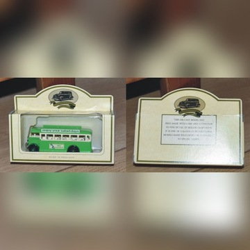 zielony AUTOBUS kolekcjonerski model LLEDO UK
