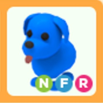 Roblox Adopt Me Blue Dog NFR neon