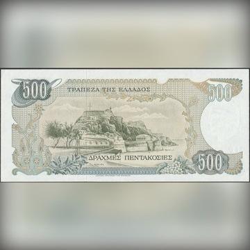 Grecja 500 drachm 1983 - stan bankowy UNC