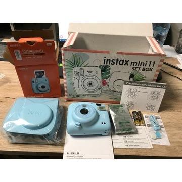 INSTAX MINI 11 SET BOX CAMERA + CASE + FILM Niebie