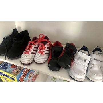 5 par butów,rozm 26(8.5)puma,nike,adidas,clarks