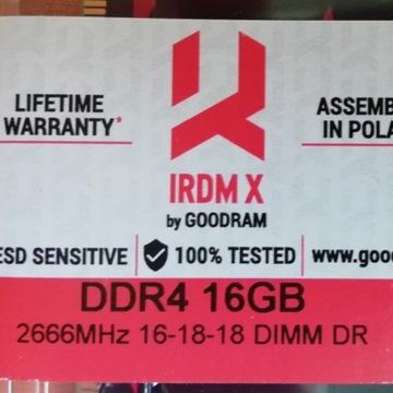 Pamięć goodram IRDMX DDR4 16GB 2666MHz 16-18-18