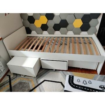 SLÄKT Rama łóżka z  poj na pościel, biały90x200 cm