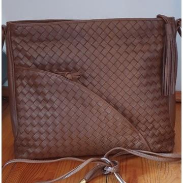 pleciona  torebka skóra styl bottega veneta