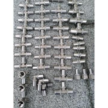 Trójniki zaprasowywane zaciskane do węży alu pex