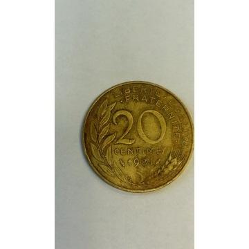 20 centimes 1981 r.-Francja