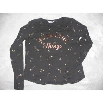 modna bluzka H&M roz.158/164 złote cekiny