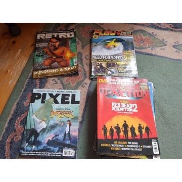 Stare gazety o grach Pixel, Retro, Play, CD-Action