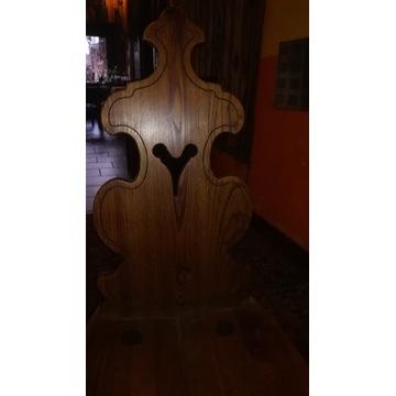 Krzesło góralskie zydel z sercem