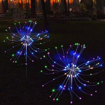 Wielokolorowe drzewko Solar LED - 2 sztuki
