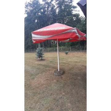 duży parasol coca cola 3 m + podstawa