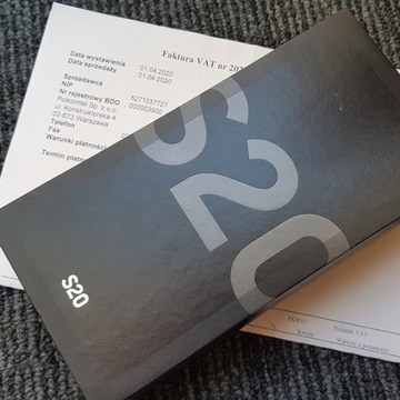 NOWY z plombą Samsung Galaxy S20 + 400zł za odkup