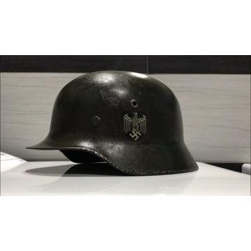 Oryginalny Bojowy Hełm Niemiecki M35 Wehrmacht