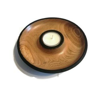Świecznik z drewna
