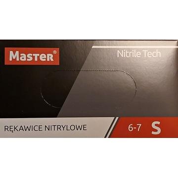 RĘKAWICZKI NITRYLOWE MASTER Nitrile Tech R : S
