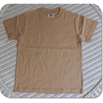 Koszulka ADLER Classic piaskowy 122cm/6 lat NOWA