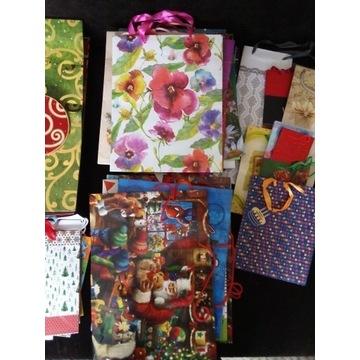 Sprzedam torebki prezentowe na różne okazje,60 szt