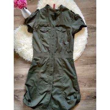 Sukienka khaki H&M 36