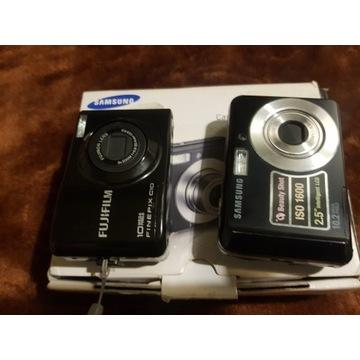 dwa aparaty cyfrowe samsug fujifilm