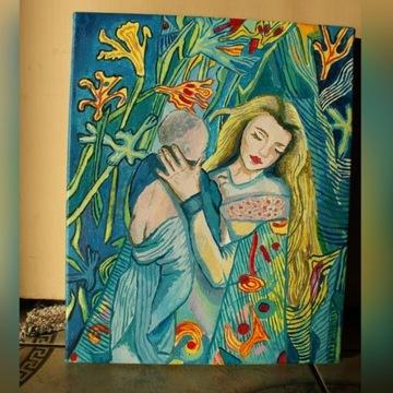 Madonna z dzieciątkiem olej secesja