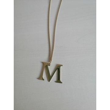 Naszyjnik z literką M Blueberry