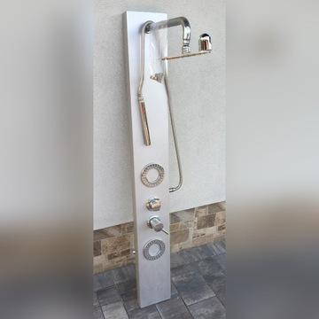 Panel prysznicowy 145cm x 18cm hydromasaż deszcz