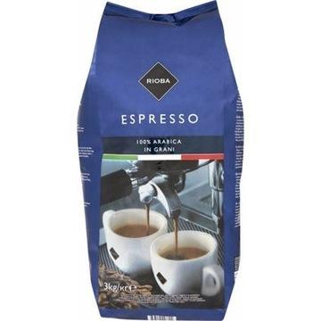 RIOBA Espresso Kawa Ziarno ziarnista PLATINUM 3 kg