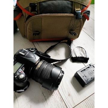 Nikon d90 + nikkor 18-105 + filtr
