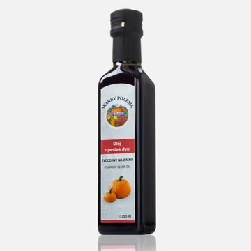 Olej z pestek dyni 250ml tłoczony na zimno