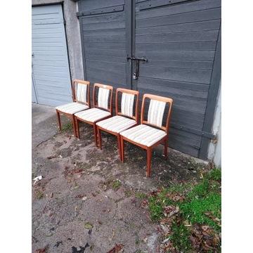Komplet 4 krzeseł duńskich.Vintage.Retro.Design.