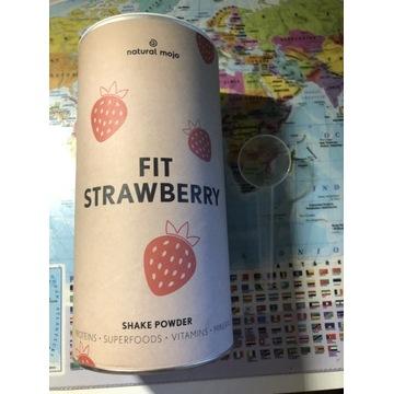 Natural mojo fit strawberry shake powder + GRATIS