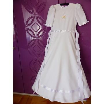 Sukienka komunijna plus bolerko, rękawiczki, wiane