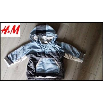 H&M kurtka zimowa 80 cm 9-12 miesięcy