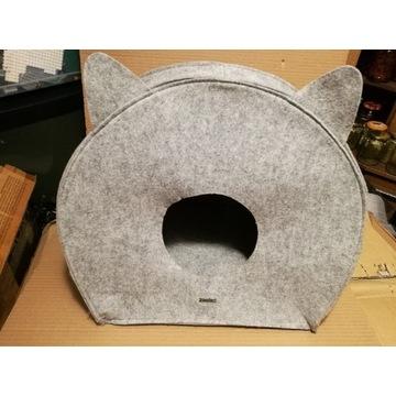 Filcowy składany domek dla kota lub małego psa