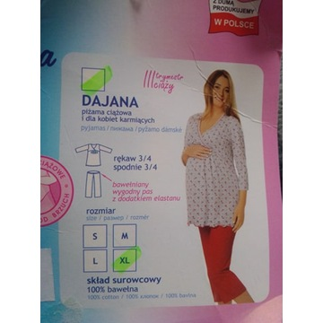 piżama ciążowa i dla kobiet karmiących Dajana XL