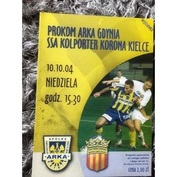 Program meczowy Arka Gdynia Korona Kielce 2004 r.