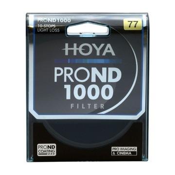 HOYA PRO ND1000   ND 3.0   Filtr Szary   77 mm