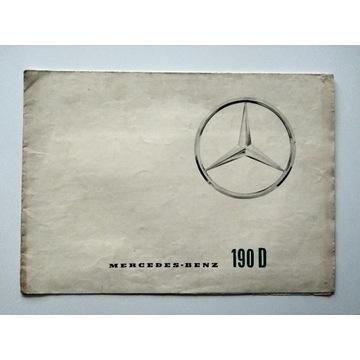 Prospekt Mercedes Benz 190D 1963 UNIKAT