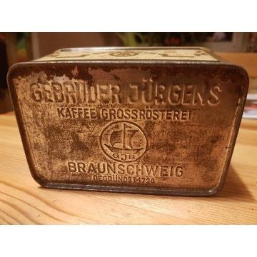 Stara puszka pudełko kawa GJB Braunschweig
