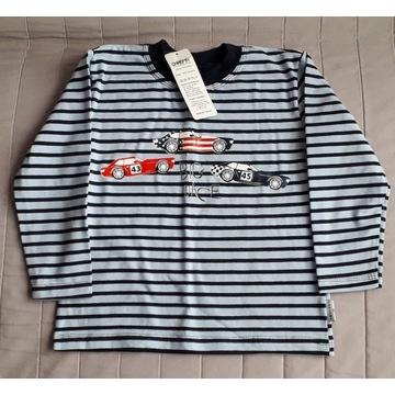 T-shirt bluzka chłopięca z długimi rękawami r.104