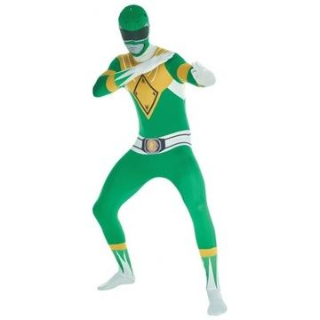 Strój Power Ranger zielony karnawał
