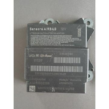 Sensor sterownik airbag fiat punto evo 51838580