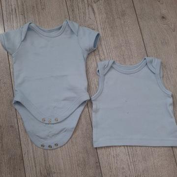 Body niemowlęce krótki rękaw + buzeczka 56
