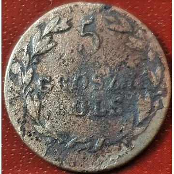 Królestwo Polskie 5 groszy 1820