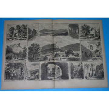 1890 zamek CHOJNIK JELENIA GÓRA HIRSCHBERG ŚLĄSK