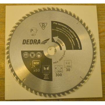 piła tarczowa DEDRA 300x30 60z z węglikiem