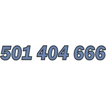 501 404 666 ZŁOTY NUMER STARTER NJU / ORANGE