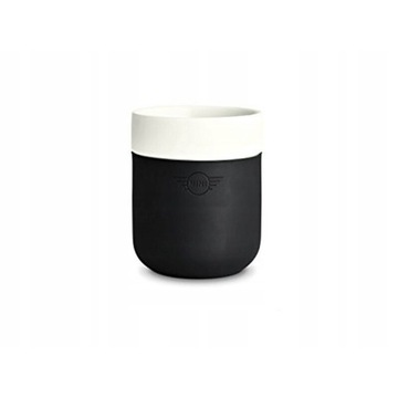 kubek mini cooper one colour block biało czarny