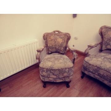 Antyk sofa i dwa fotele
